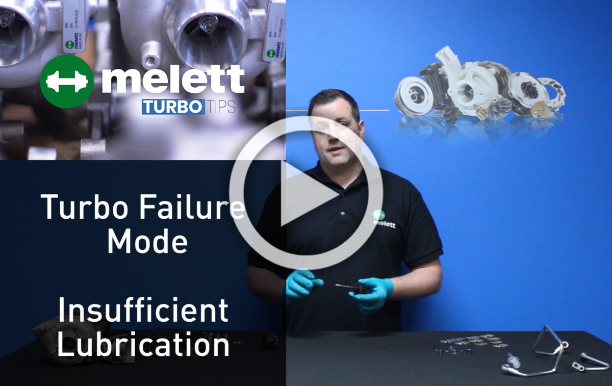 How does Insufficient Lubrication cause turbocharger failure? 🎥